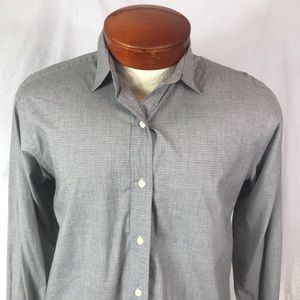 Brooks Brothers Size 6 Silver Gray Button Up Shirt